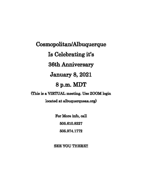 CosmopolitanGroup36thAnniversaryFlyer