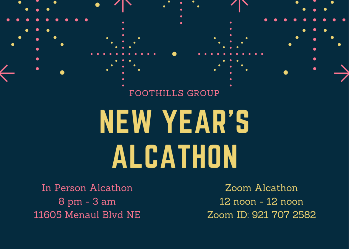 Foothills Group New Year's Eve Alcathon