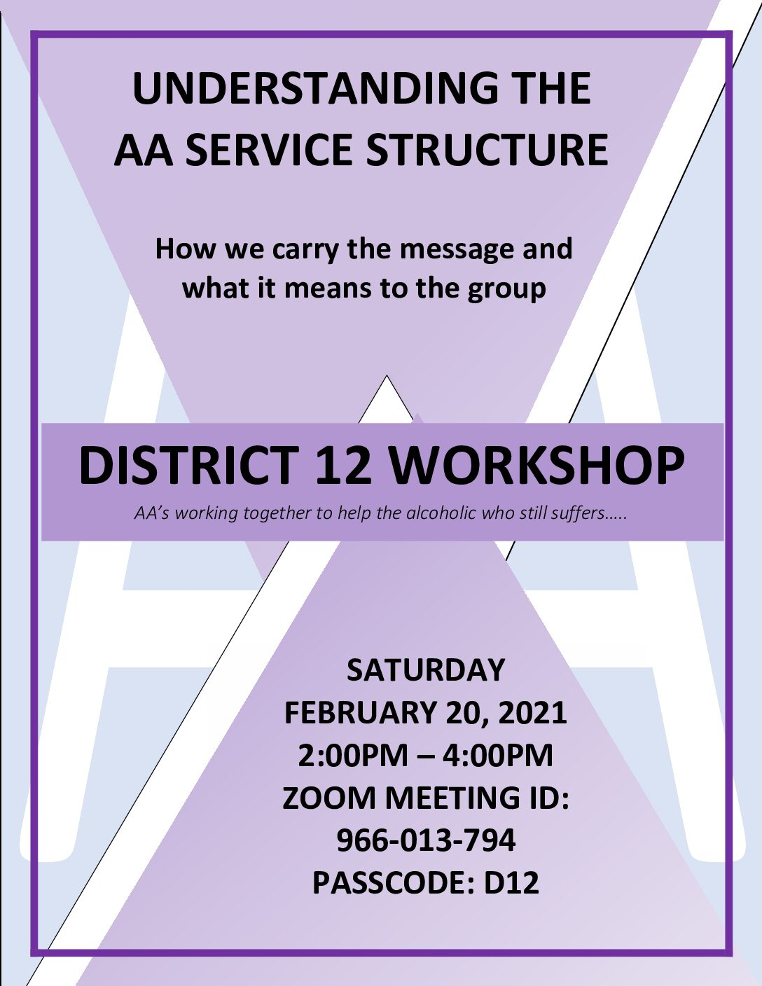District 12 Workshop