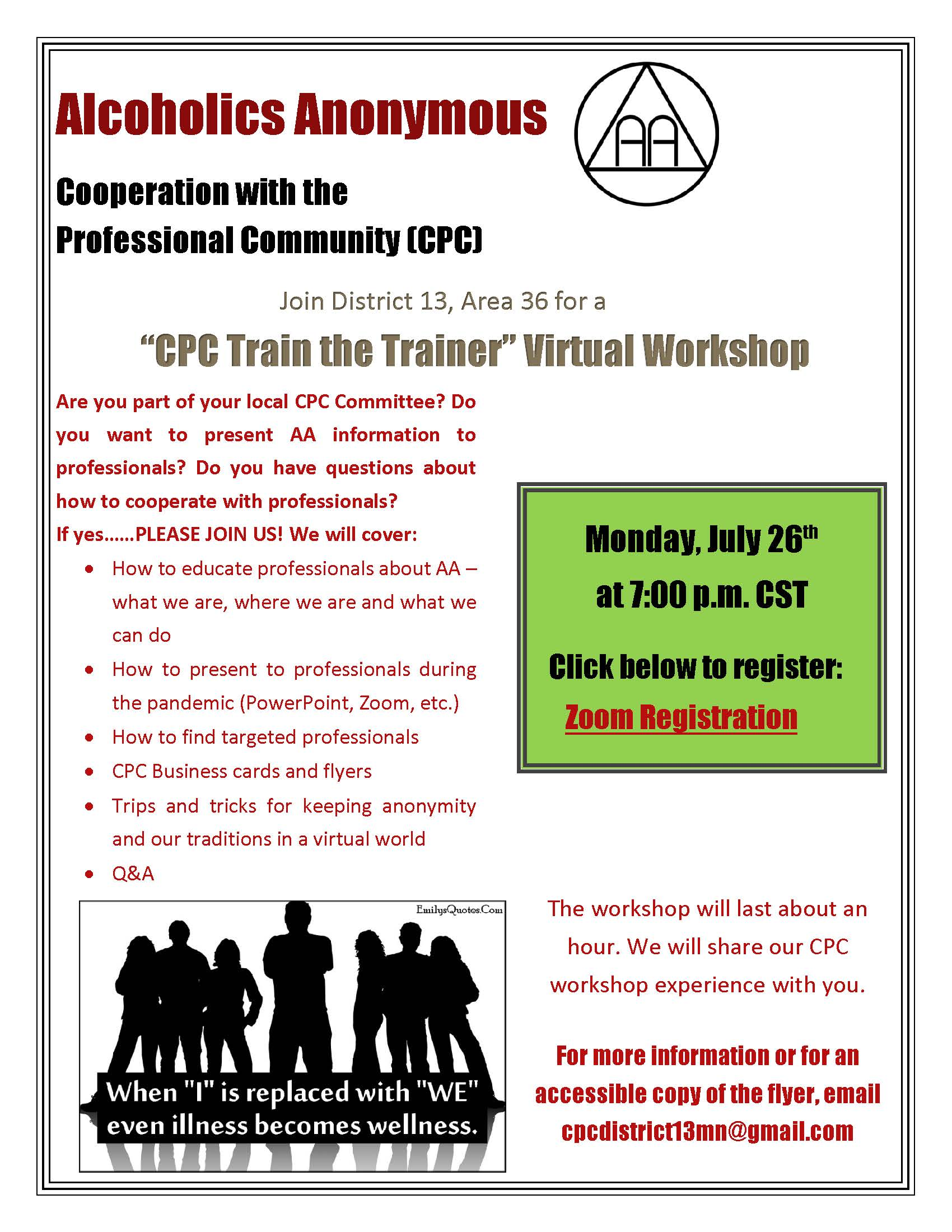 Flyer CPC Train the Trainer July 26 2021
