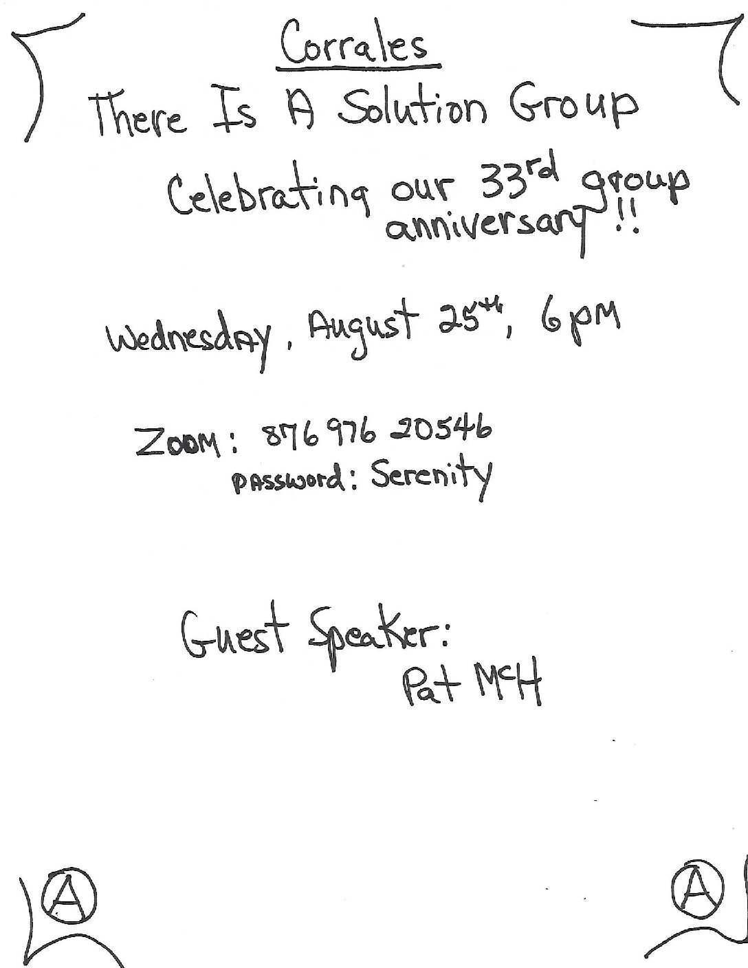 There Is A Solution Group 33rd Anniversary
